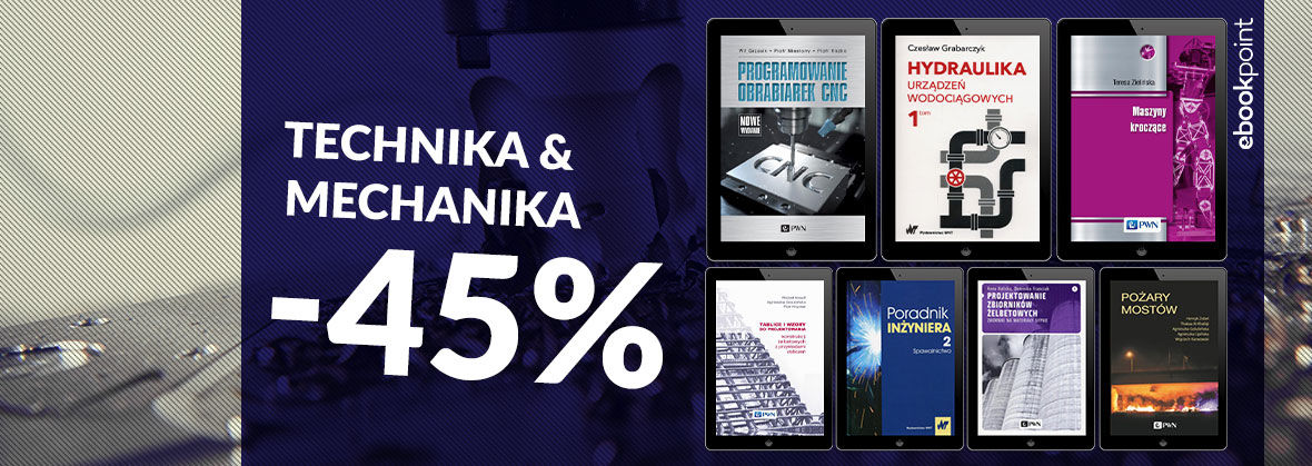 Promocja na ebooki Technika i mechanika [-45%]